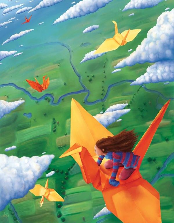 -Salimos a volar- ilustración de Aubry Cohen