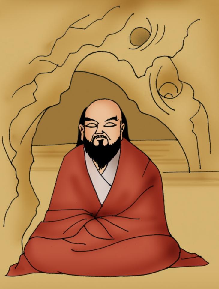 Bodhidharma_Meditating