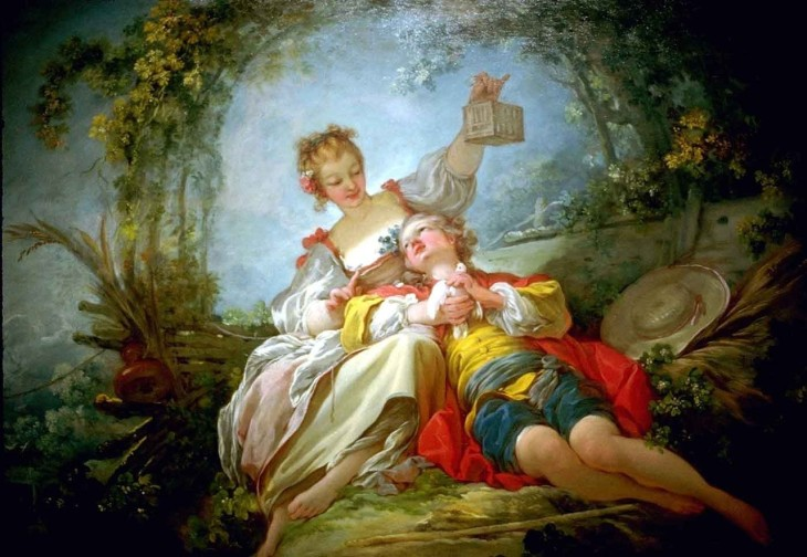 Jean-Honoré Fragonard (1732 - 1806) Amantes felices- Happy Lovers
