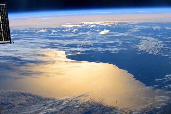 sur de argentina desde el espacio