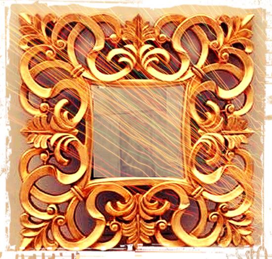 espejo marco oro