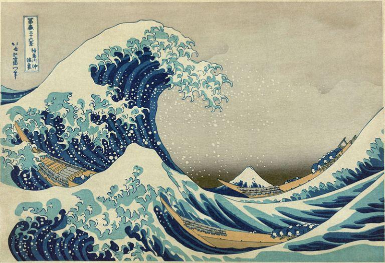 La gran ola de Kanagawa-Hokusai