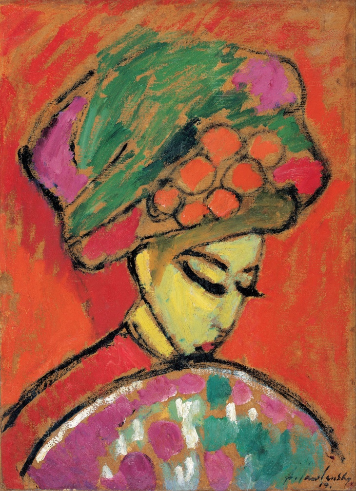 Alexei Jawlensky - Young Girl with a Flowered Hat, 1910