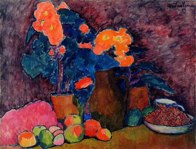 Alexei von Jawlensky, Still Life, 1909, oil on wood