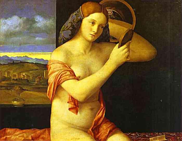 ritratto di giovane donna allo specchio 1515