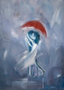 Painting Dancing in the rain - Artist Marek Langowski
