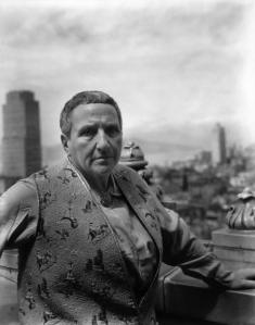 .Gertrude Stein, San Francisco, 1935