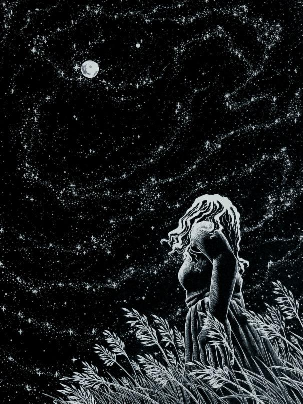 Akageno Saru. Noche estrellada,2012. (Dibujo)