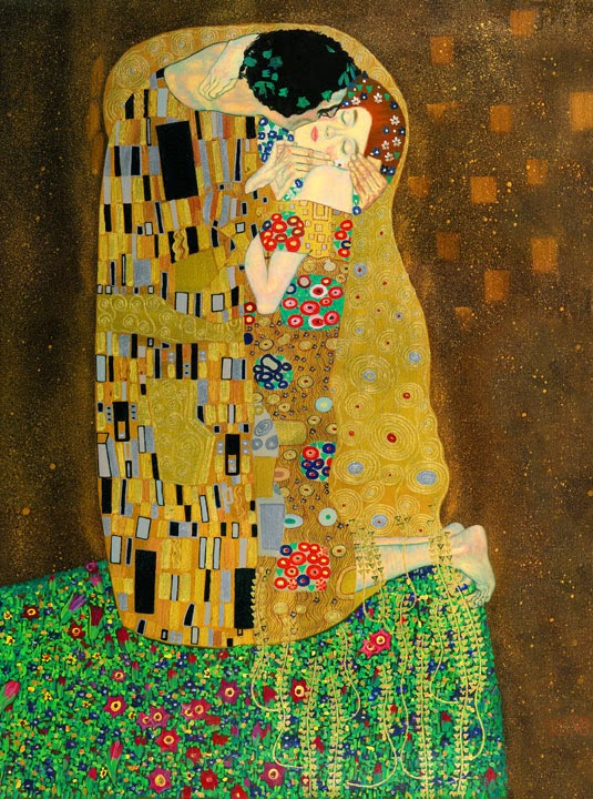 Gustav Klimt - The Kiss -