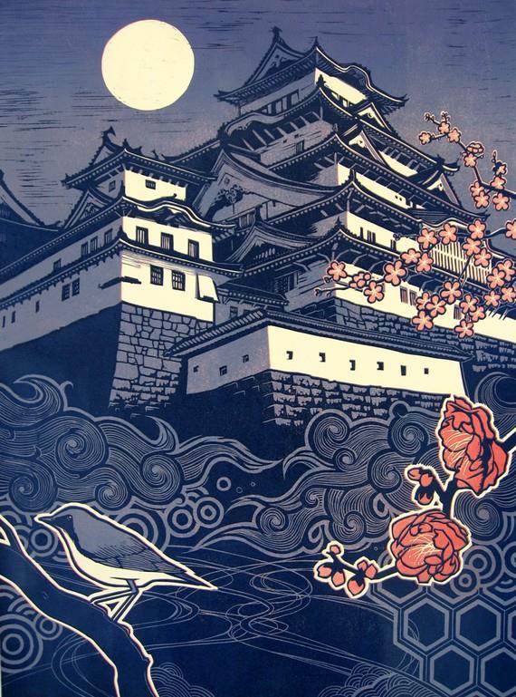 Castillo, de Taro Takizawa. La nueva ola del ukiyo-e.