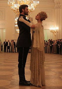 In the show, Kurt Seyt and Shura meet at a ball in Petrograd.