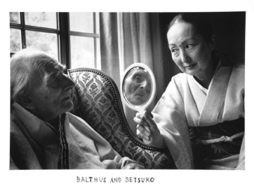 DUANE MICHALS Balthus and Setsuko, 2000 gelatin silver print image, 6 x 9 inches paper, 8 x 10 inches DMI.160