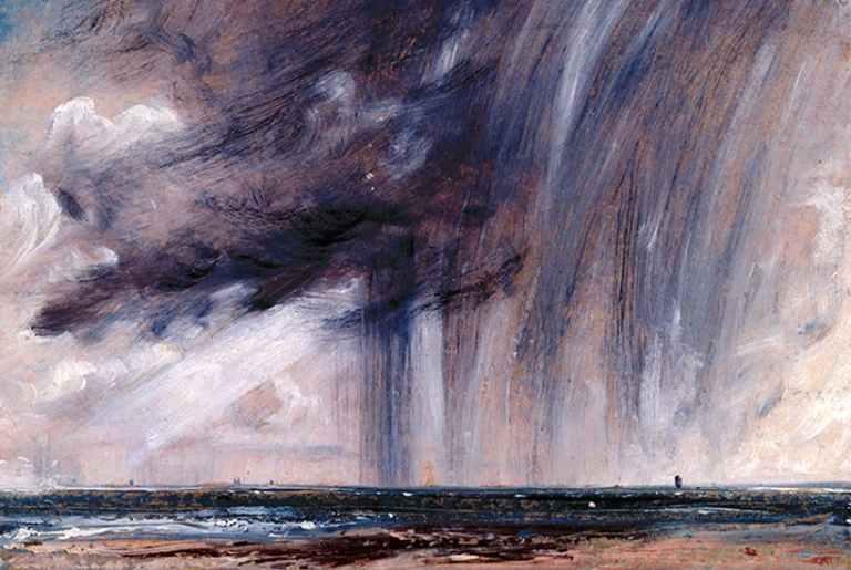 Rainstorm over the sea- John Constable