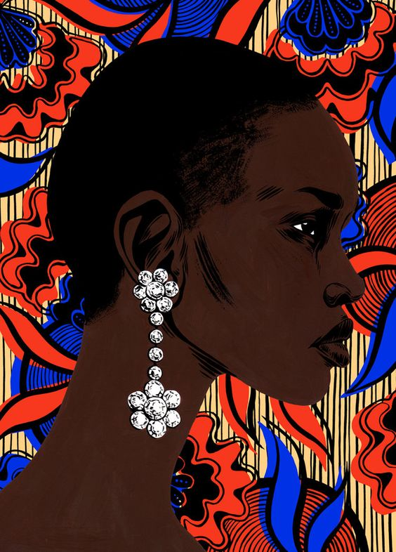 Portrait of Alek Wek by Bijou Karman