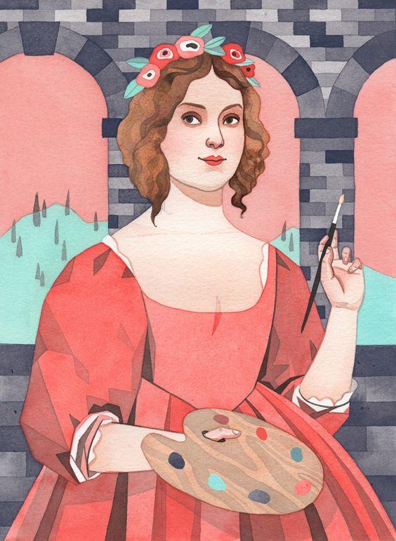 Artemisia Gentileschi (Illustration by Monica Garwood)