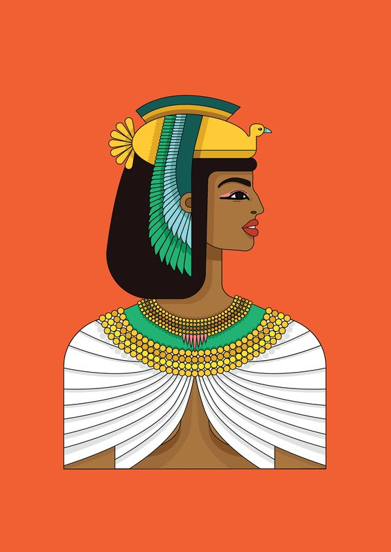 cleopatra ilustration by kiki ljung