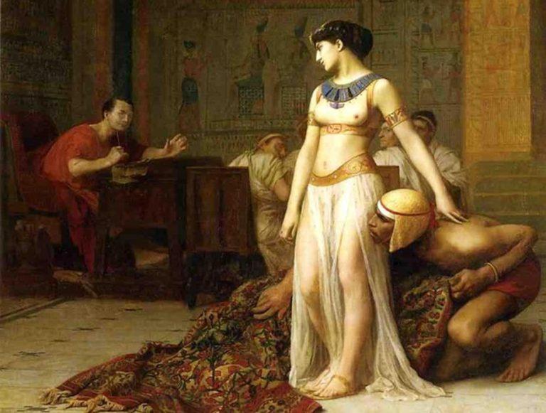 Cleopatra y César (1866). Óleo de Jean-Léon Gérôme.