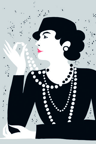 Coco Chanel (Illustration by Karolin Schnoor)