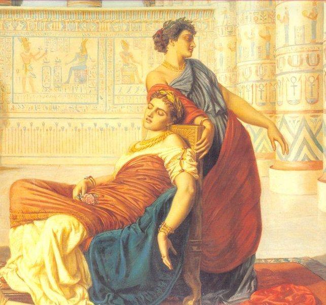Pntura la muerte de Cleopatra Obra de Valentine Cameron Prinsep