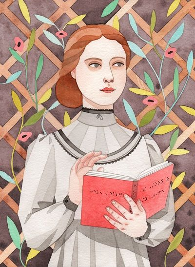 Helen Keller Illustration by Monica Garwood