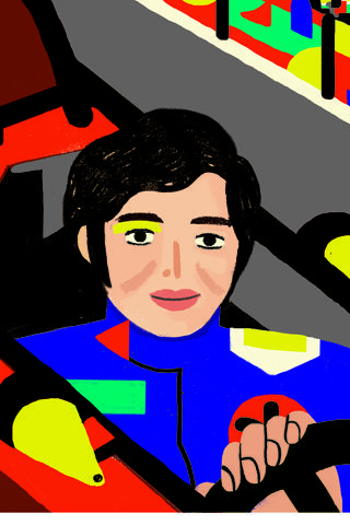Lella Lombardi Illustration by Sarah Mazzetti