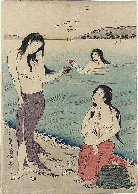 pearl divers, Utamaro