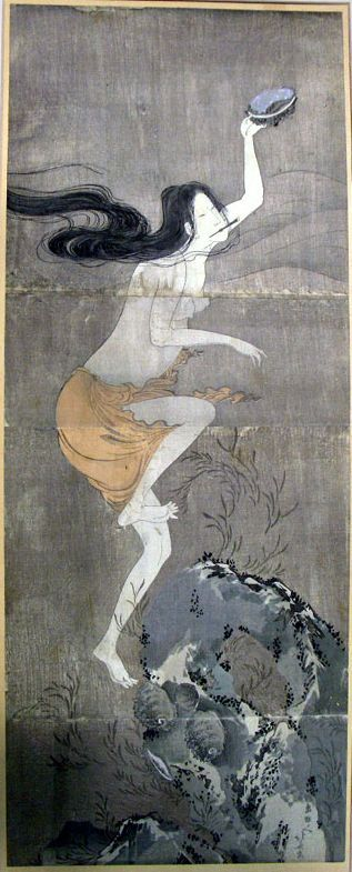 Pescadora de perlas - attributed to Hokusai