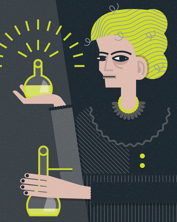 Marie Curie (Illustration by Claudia Carieri)
