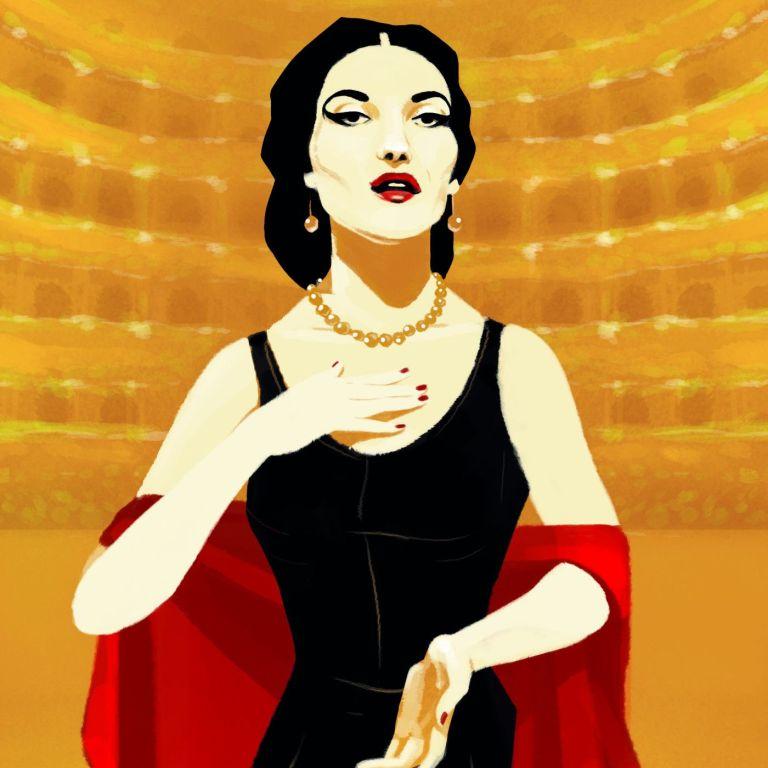 Maria Callas ( (Illustration by ©Marta Signori)