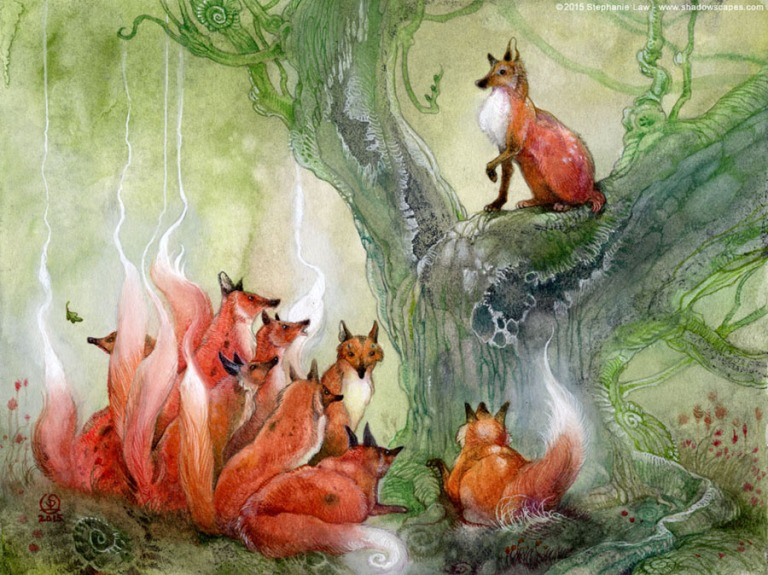 Fairytales & Mythology  The Fox Without a Tail.jpg