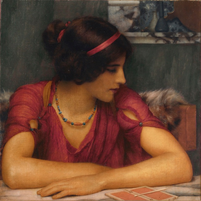 The Letter (A Classical Maiden) (1899). John William Godward.jpg