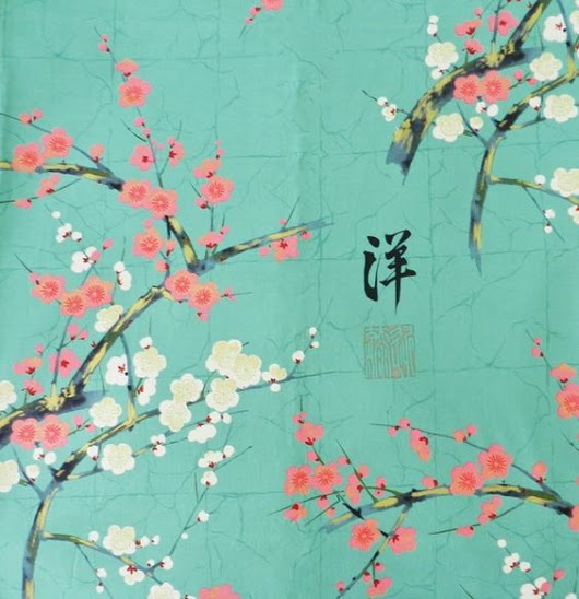 Tissu Jardin Japonais et fleurs de cerisier Alexander Henry.jpg