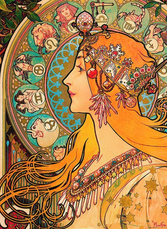 Alphonse Mucha – Zodiac, 1896.jpg