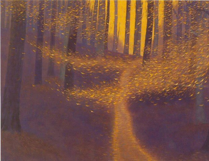 Kaii Higashiyama, Fallen Leaves Dancing in the Wind