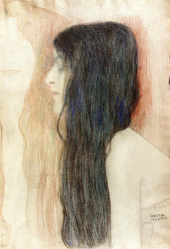 Gustav Klimt — Girl with Long Hair