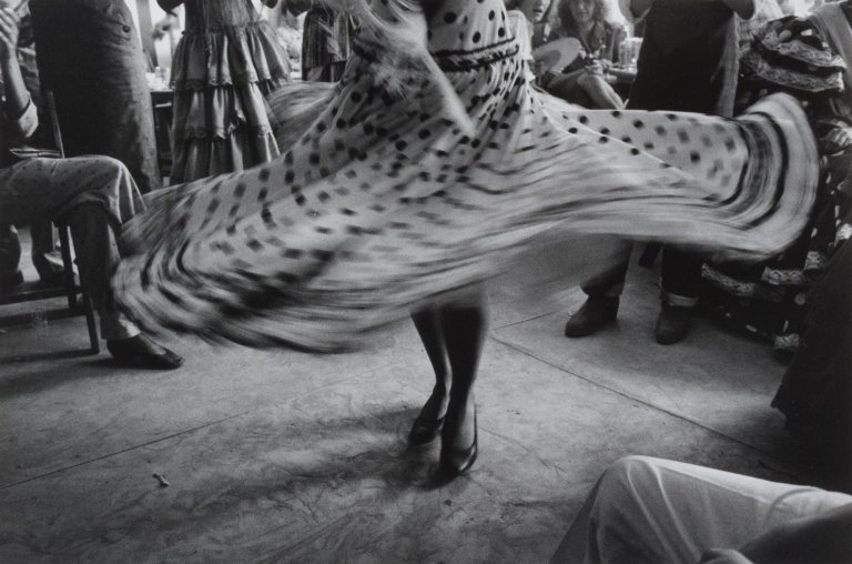 Inge Morath-Dancers skirt at a fair,Seville, Spain,1987