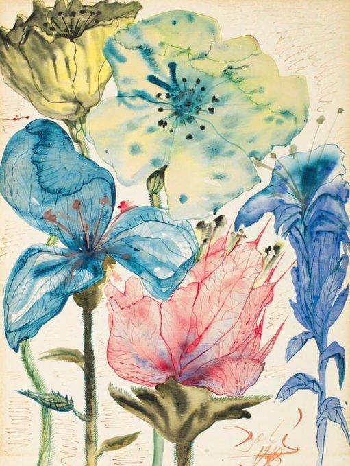 Salvador Dalí - Fleurs