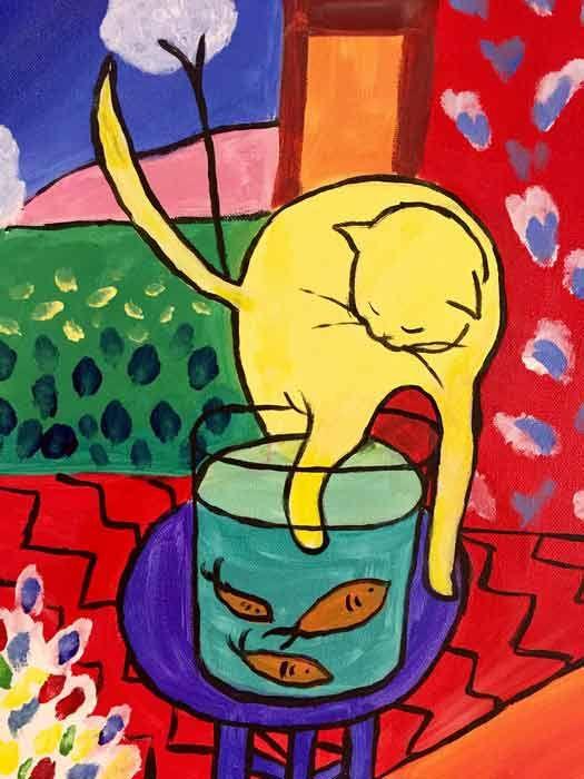 Gato y peces de colores 1914