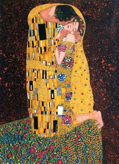 Gustav Klimts The Kiss